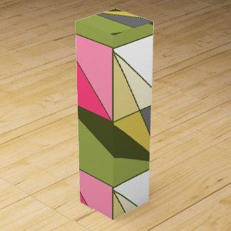 HAMbyWG -ワイン用化粧箱-オリーブまたはピンクの抽象芸術 ワインギフトボックス