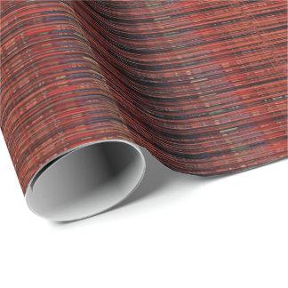 HAMbyWG -包装紙-赤の罰金の糸の一見 ラッピングペーパー