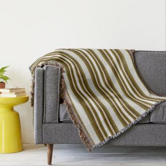 HAMbyWG -毛布-のオリーブ色及び白い勾配 スローブランケット