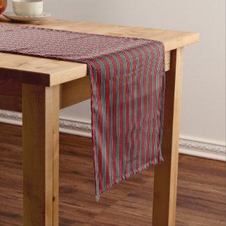 """HAMbyWG 14"""" X 72""""テーブルのランナー-赤い灰色の骨 ショートテーブルランナー"""