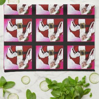 "HAMbyWG - Kitchen Towel 16"" x 24"" - Santa Claus キッチンタオル"
