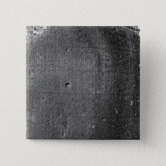 Hammurabiのコード、コラムの銘刻文字の詳細 5.1cm 正方形バッジ