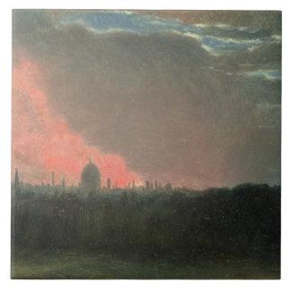 Hampstead (紙lからの油見られるロンドンの火 タイル