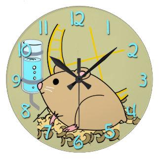 Hampsterのかわいい子供の円形の柱時計 ラージ壁時計