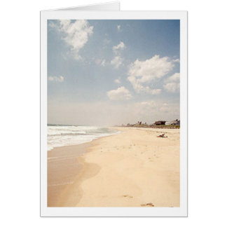 Hamptonsのビーチのメッセージカード カード