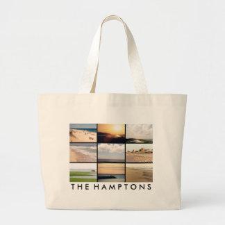 Hamptonsの景色のバッグ ラージトートバッグ