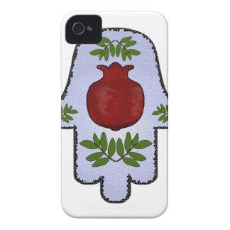 Hamsaのザクロ、淡いブルーの、ステンドグラスZazz Case-Mate iPhone 4 ケース