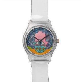 Hamsaの白い腕時計 腕時計