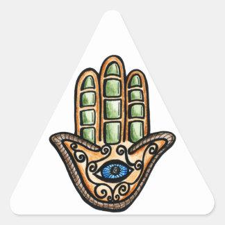 Hamsaの目 三角形シール・ステッカー