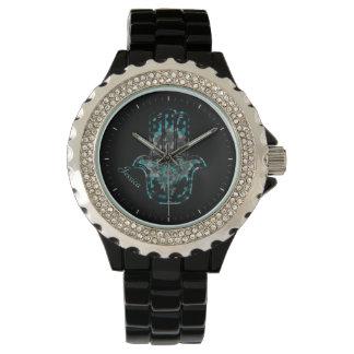 Hamsaの花の生命 腕時計