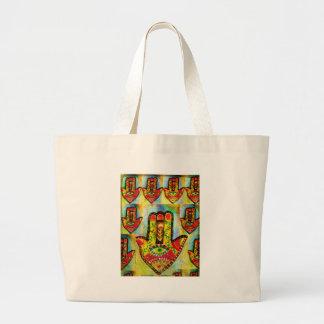 Hamsaの芸術 ラージトートバッグ
