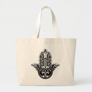 Hamsaの装飾的なデザイン ラージトートバッグ