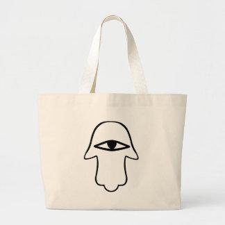 Hamsaの記号 ラージトートバッグ