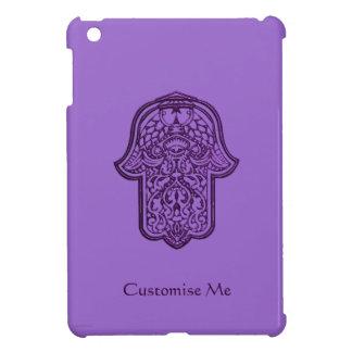 HamsaのHenna手(紫色) iPad Mini カバー