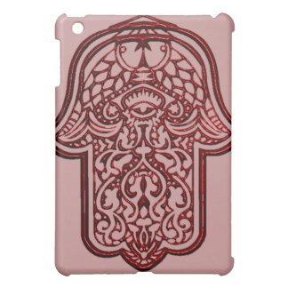 HamsaのHenna手(赤い) iPad Miniケース