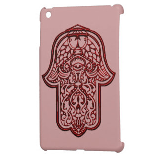 HamsaのHenna手(赤い) iPad Mini カバー