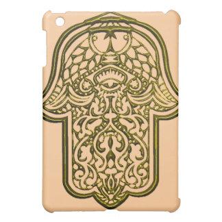 HamsaのHenna手(金) iPad Miniケース