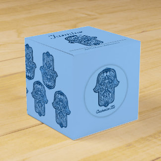 HamsaのHenna手(青い) フェイバーボックス