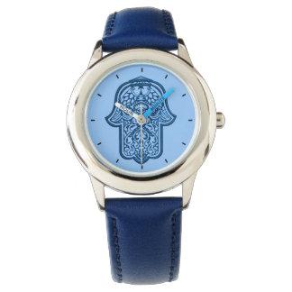 HamsaのHenna手(青い) 腕時計