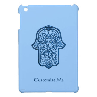 HamsaのHenna手(青い) iPad Mini カバー