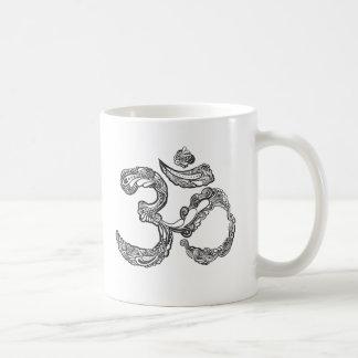 hamsaのOMの記号 コーヒーマグカップ