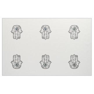 Hamsaシンプルな手描きの花の手 ファブリック