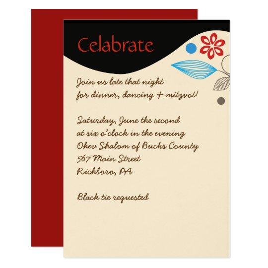 HAMSA手のユダヤ人の結婚式招待状のパーティーカード カード