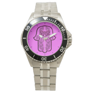 Hamsa手の業績: ハート 腕時計