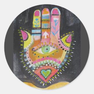 Hamsa手の芸術 ラウンドシール