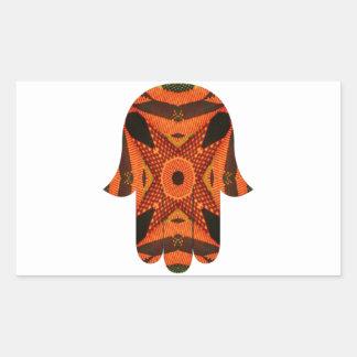 Hamsa手2 長方形シール