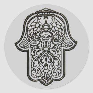 Hamsa (オリジナル)のHenna手 ラウンドシール