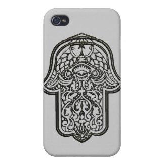 Hamsa (オリジナル)のHenna手 iPhone 4/4Sケース
