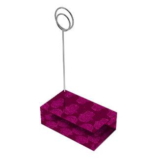 Hamsa (ピンク)のHenna手 テーブルカードホルダー