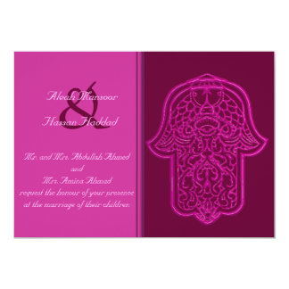 Hamsa (ピンク)のHenna手(結婚式) カード