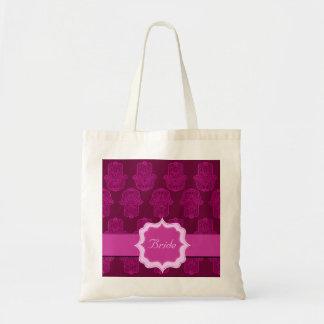 Hamsa (ピンク)のHenna手(結婚式) トートバッグ