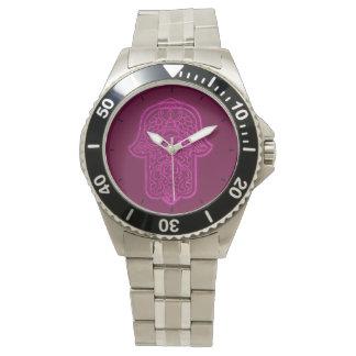 Hamsa (ピンク)のHenna手 腕時計