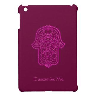 Hamsa (ピンク)のHenna手 iPad Miniカバー