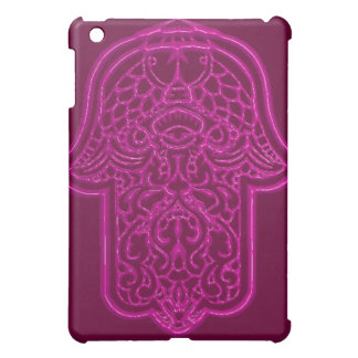 Hamsa (ピンク)のHenna手 iPad Miniケース