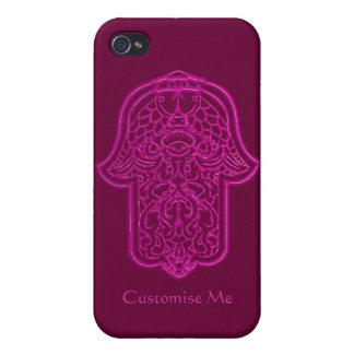 Hamsa (ピンク)のHenna手 iPhone 4/4Sケース