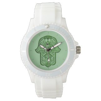 Hamsa (緑)のHenna手 腕時計
