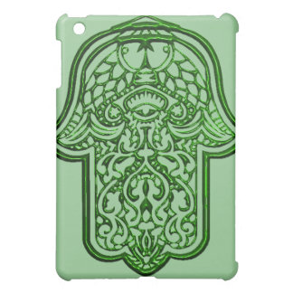 Hamsa (緑)のHenna手 iPad Mini Case