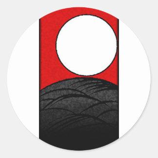 hanafudaの日本カード(日本京都) ラウンドシール
