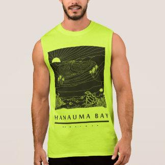 Hanauma湾のハワイのカメ 袖なしシャツ