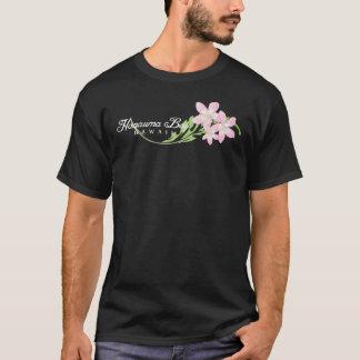 Hanauma湾のハワイのプルメリアの花 Tシャツ