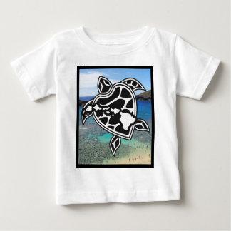 Hanauma湾のハワイの島 ベビーTシャツ