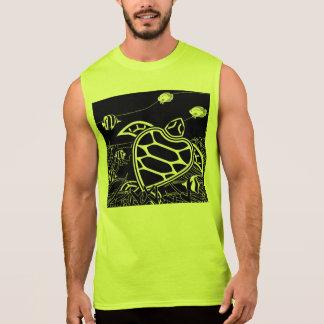 Hanauma湾の緑のウミガメ 袖なしシャツ