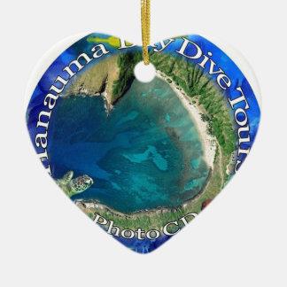 Hanauma湾の飛び込みは写真のCDを旅行します セラミックオーナメント