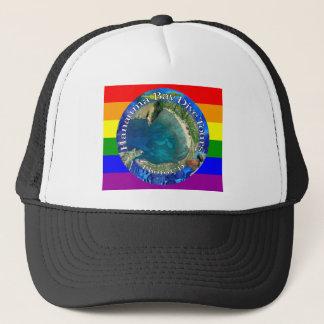 Hanauma湾の飛び込みは虹の帽子を旅行します キャップ