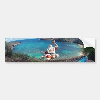 Hanauma湾ハワイのサンタクロース バンパーステッカー
