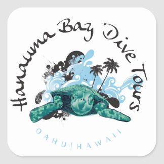 Hanauma湾ハワイ スクエアシール